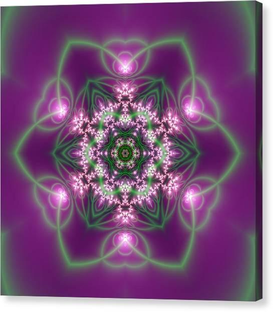 Canvas Print featuring the digital art Transition Flower 6 Beats 3 by Robert Thalmeier