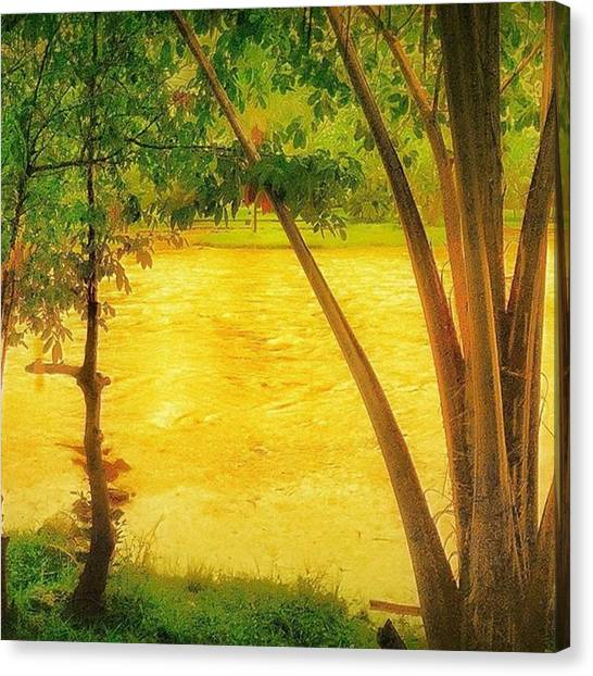 Kenyan Canvas Print - treat The Earth Well. It Was Not by Lean P