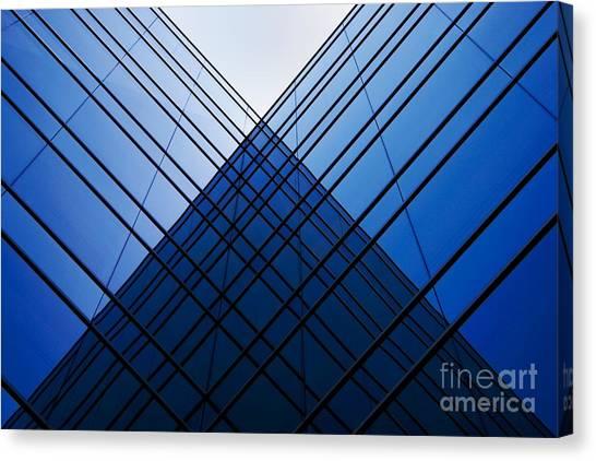 Triangle Reflection Canvas Print by Hideaki Sakurai