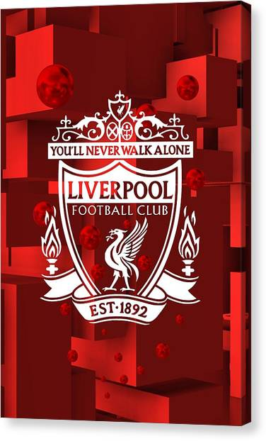 Tribute To Liverpool 3 Canvas Print