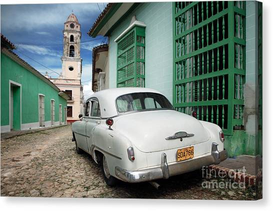 Street Rods Canvas Print - Trinidad - Cuba by Rod McLean