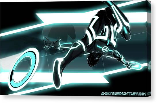 Sports Cars Canvas Print - Tron Legacy by Maye Loeser
