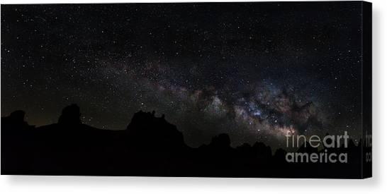 Trona Pinnacles Milky Way Canvas Print