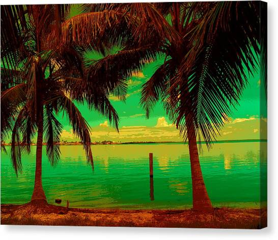 Tropic Nite Canvas Print by Florene Welebny