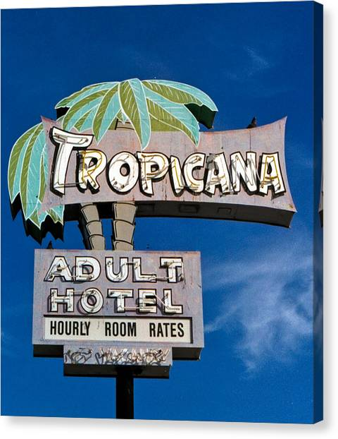 Retro Canvas Print - Tropicana by Matthew Bamberg
