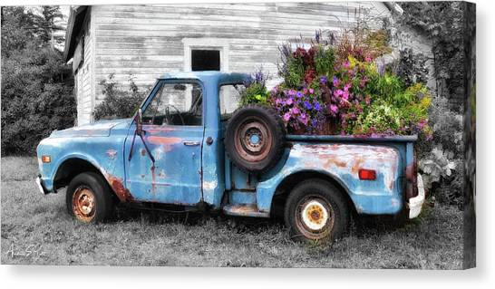 Truckbed Bouquet Canvas Print