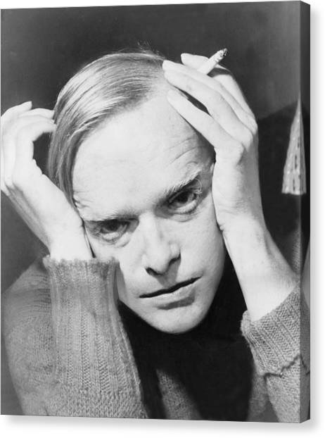 1950s Fashion Canvas Print - Truman Capote 1924-1984, Southern by Everett