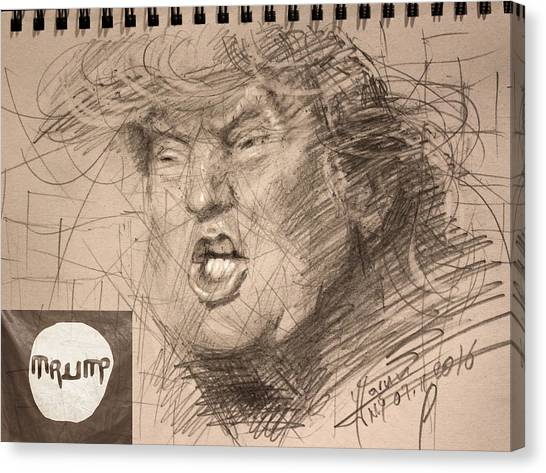 Donald Trump Canvas Print - Trump by Ylli Haruni