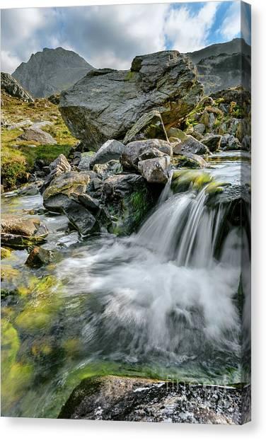 Tryfan Mountain Canvas Print - Tryfan In The Ogwen Valley by Adrian Evans