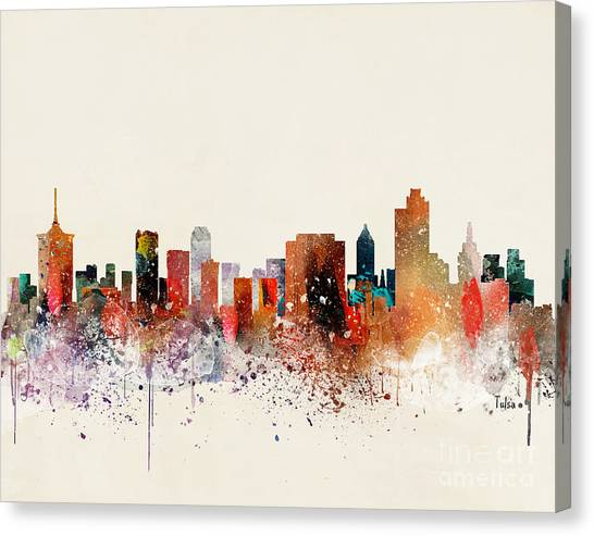 Tulsa Skyline Canvas Print by Bri Buckley