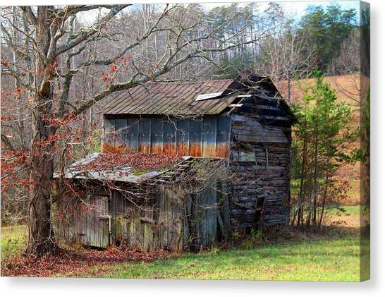 Tumbledown Barn Canvas Print