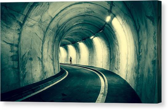 Vault Canvas Print - Tunnel by Jackie Russo