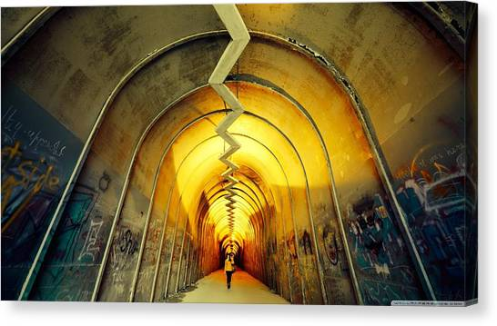 Vault Canvas Print - Tunnel by Maye Loeser