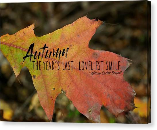 Turn A Leaf Quote Canvas Print by JAMART Photography
