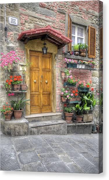 Tuscan Entrance Cortona Canvas Print by Al Hurley