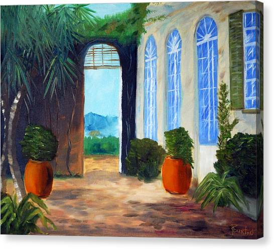 Tuscany Court Yard Canvas Print