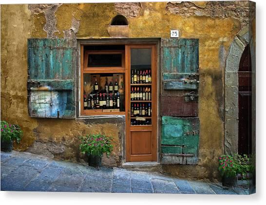 Tuscany Wine Shop 2 Canvas Print