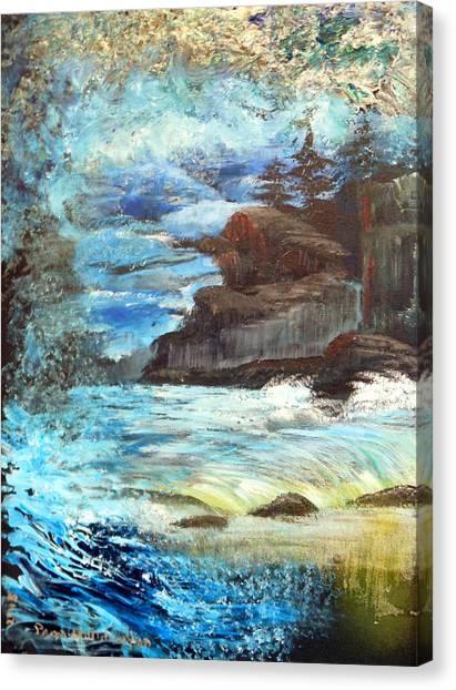 Twilight Cliffs Canvas Print
