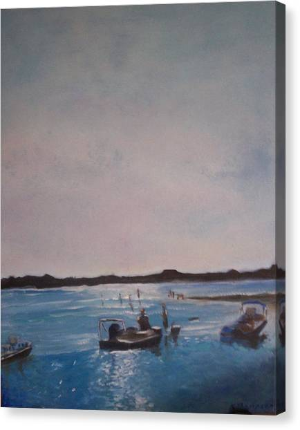 Twilight Tide Canvas Print by Karen Thompson