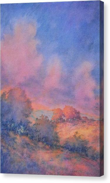 Spring Trees Canvas Print - Twilight Time No 1 by Virgil Carter