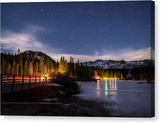 Cloud Forests Canvas Print - Twin Lakes At Night by Cat Connor