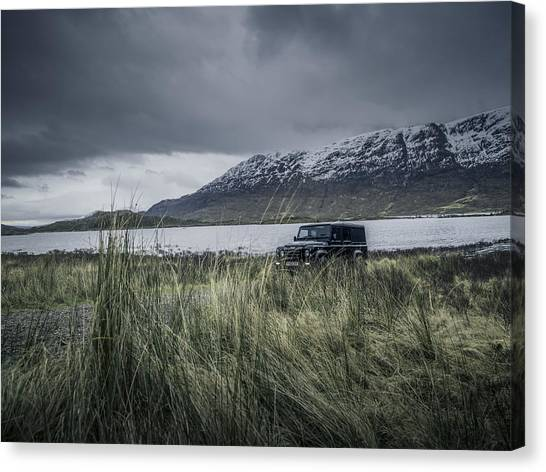 Twisted Land Rover Defender Canvas Print