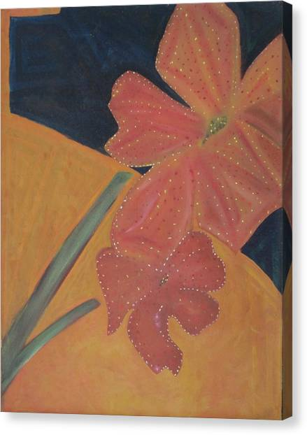 Two Flowers Canvas Print by Patricia Cleasby
