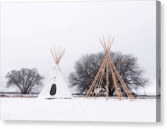 Two Tipis Canvas Print