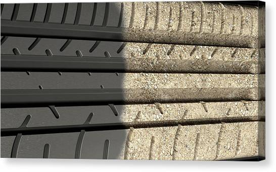 Offroading Canvas Print - Tyre Tread Morphing To Ground by Allan Swart