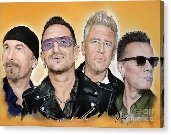 Bono Canvas Print - U2 Band by Melanie D