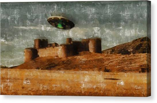 Cia Canvas Print - Ufo By Raphael Terra And Mary Bassett by Raphael Terra