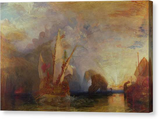 Cyclops Canvas Print - Ulysses Deriding Polyphemus - Homer's Odyssey by Joseph Mallord William Turner