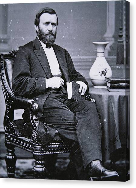 U. S. Presidents Canvas Print - Ulysses Simpson Grant by Matthew Brady