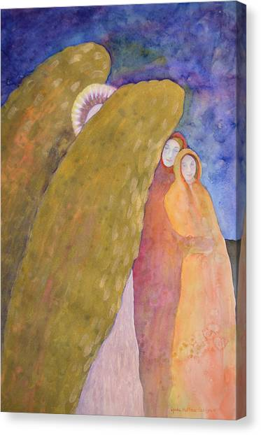 Under The Wing Of An Angel Canvas Print