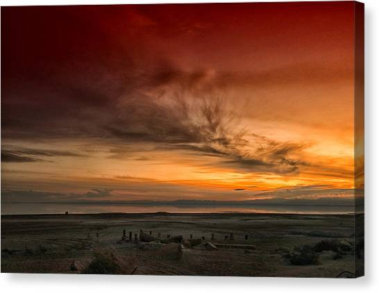 Canvas Print featuring the photograph The Salton Gateway by Mike Trueblood