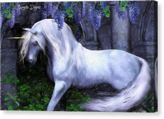 Unicorn Canvas Print - Unicorn - Pencil Style by Leonardo Digenio