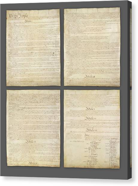 Canvas Print - United States Constitution, Usa by Panoramic Images