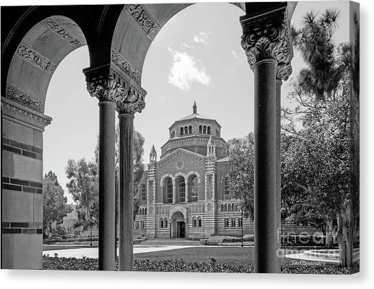 Pac 12 Canvas Print - University Of California Los Angeles Powell Library by University Icons