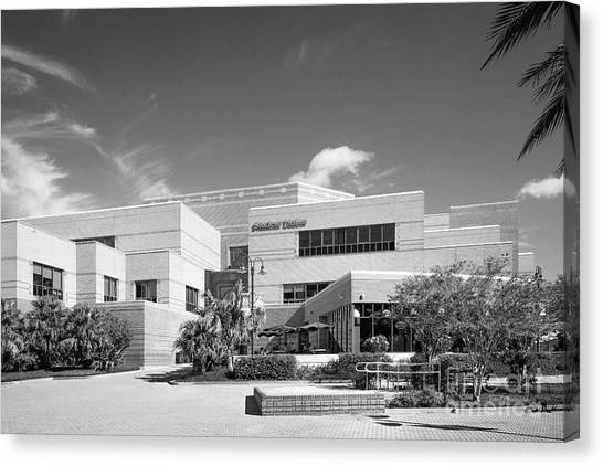 University Of Central Florida Ucf Canvas Print - University Of Central Florida Student Union by University Icons
