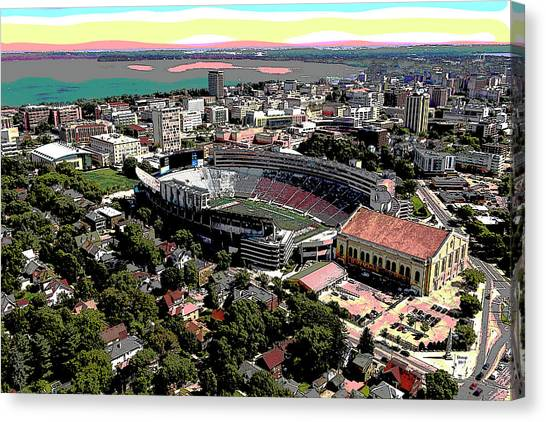 University Of Iowa Canvas Print - University Of Wisconsin by Charles Shoup