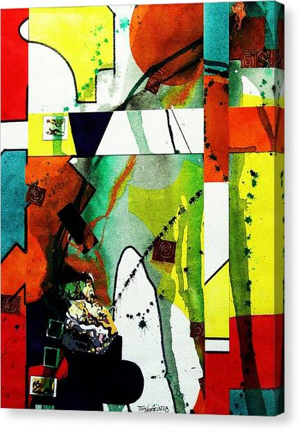 Untitled Abstract Canvas Print by Tom Herrin