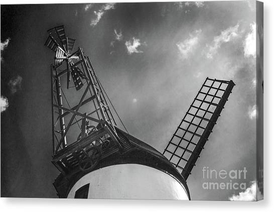 Unusual View Of Windmill - St Annes - England Canvas Print