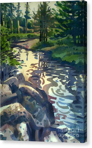 Trout Canvas Print - Up With The Fishes by Donald Maier