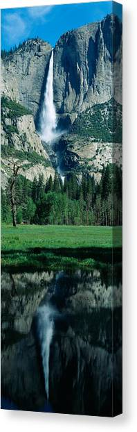 Landform Canvas Print - Upper And Lower Yosemite Falls by Panoramic Images