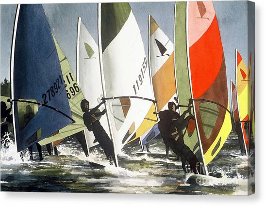 Upwind Leg Canvas Print