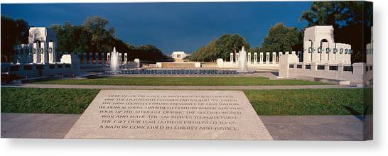 D.c. United Canvas Print - U.s. World War II Memorial by Panoramic Images