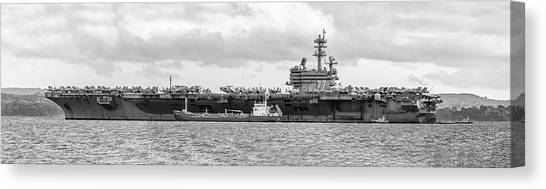 George Bush Canvas Print - Uss George H.w Bush. by Angela Aird