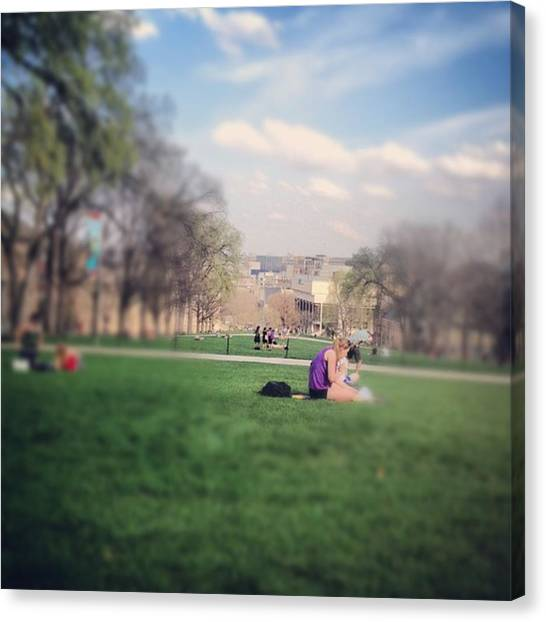 University Of Wisconsin - Madison Canvas Print - University Of Wisconsin by Alex Schmidt