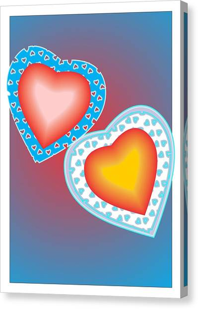 Valentine Lace Canvas Print