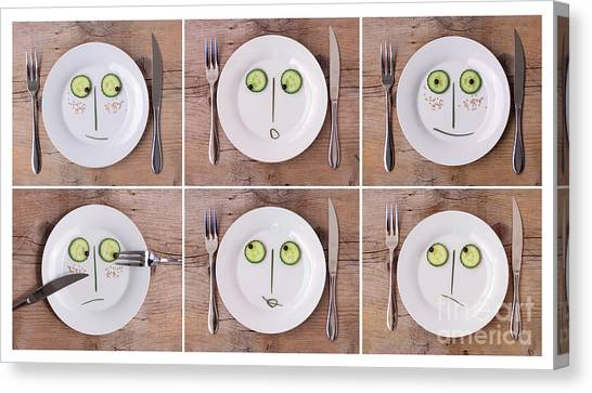 Vegetarian Canvas Print - Vegetable Faces by Nailia Schwarz